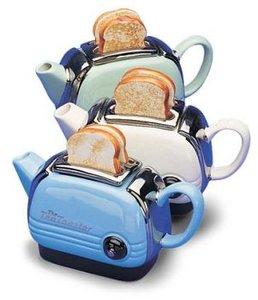 Theepot in de vorm van een Toaster One Cup Blauw