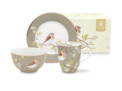 Pip Studio Breakfast Set Khaki