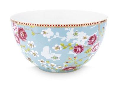 Pip Studio Kom Early Bird Chinese Rose Blauw 18 cm
