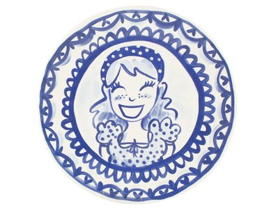 Blond Amsterdam Dinerbord Meisje 26 cm