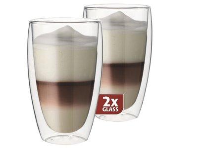Thermo-glazen set van twee: Latte 380 ml