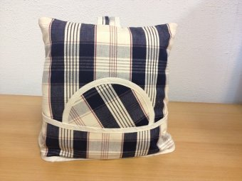 Teacosy with basket: Scottish Blue checkered